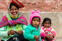 Quechua Woman and Children,  Patacancha, Sacred Valley