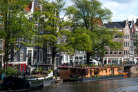 House Boats along Prinsengracht Canal