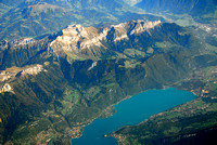 Aerial View of Annecy Lake, France