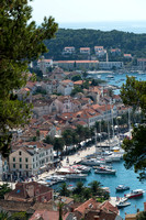 Port of Hvar from the Fortress, Croatia