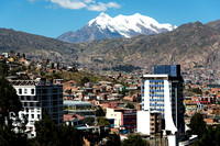 La Paz with the Illimani Mountain (6438 m)